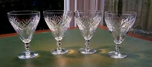 Set of 4 Vintage Clear Cut Crystal Champagne Coupes (Glasses). Celebration/ Home