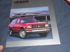 1988 Chevy Chevrolet S10 Blazer SUV Original Brochure Prospekt