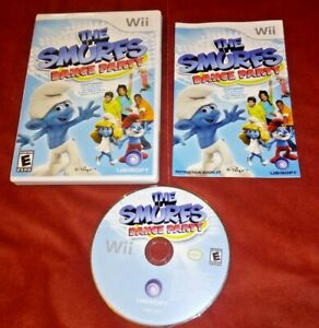 The Smurfs Dance Party (Nintendo Wii, 2011) Complete w/ manual *TESTED*