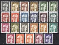 Berlin 1970/73 Mi.Nr. 359-370, 393-396, 427-433 Freim: Heinemann postfrisch **