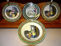 VINTAGE 1960s  ADAMS LARGE BOWL & 3 PLATES - CRIES OF LONDON /  DICKENS PICKWICK