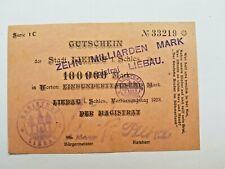 Notgeld 10 Milliarden Überdruck Liebau 1923 Serie 1C | Zustand III