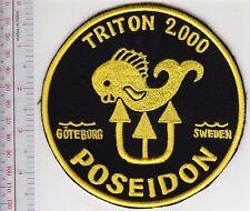 SCUBA Diving Sweden Poseidon Triton 2000 Regulator Patch Goteborg Sweden