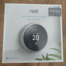 Nest Learning Thermostat, 3rd Gen, Stainless Steel Brand New Sealed + Stand