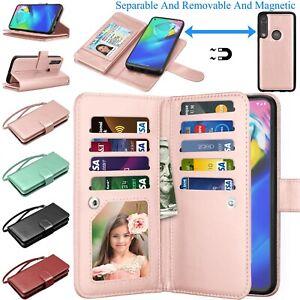 For Motorola Moto G Power/G Stylus/Pro/E 2020 Wallet Hybrid Card Case Flip Cover