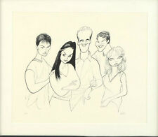 Al Hirschfeld  Dawsons Creek  Matted Limited Edition Lithograph     signed