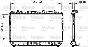 Engine Cooling Radiator VALEO Fits CHEVROLET Lacetti DAEWOO 1.4-2.0L 2003-