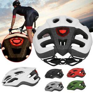Damen Herren Fahrradhelm Rennrad Schutzhelm Radhelm BMX Helm mit Rücklicht LED