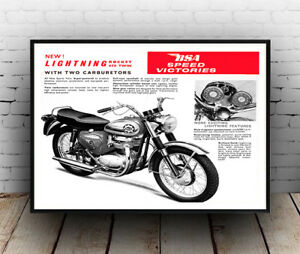 Lightning rocket : Vintage  Motorcycle advert , Reproduction poster, Wall art.