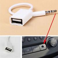AUX-Audio Stecker 3.5mm männlich Adapter auf USB2.0 Buchse Kabel Autoradio TDQ