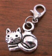charms argentée chat