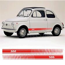 Fasce adesive Fiat 500 D'EPOCA strisce fiancate adesivi laterali vecchia 500 old