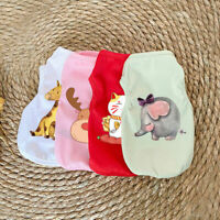 Summer Cute Printed Pet Clothes Sleeveless Puppy Dog Cat Shirt Vest Dog Clothes