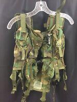 USGI IIFS TLBV Genuine Military Tactical Load Bearing Vest Woodland 8 Mag 2 Frag