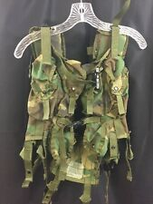 USGI IIFS TLBV Genuine Military Tactical Load Bearing Vest Woodland 6 Mag 2 Frag