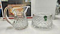 Waterford Crystal Creamer & Open Sugar Bowl. Alana 1952