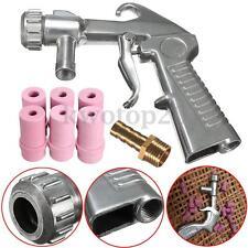 Siphon Sandblaster Air Feed Sand Blasting Gun + Extra 6pcs Ceramic Nozzle Tips