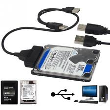 "USB To Sata 7+15 pin  22 pin HDD SSD HDD Adapter 2.5"" Converter Lead Cable"
