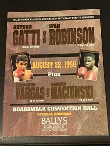 Oroginal ARTURO GATTI - IVAN ROBINSON OFFICIAL PROGRAM Boxing Fight Of The Year
