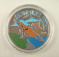 Sahara 100 Pesetas Coin 2005 UNC, Plane Spitfire MKII Aircraft