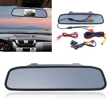 Car TFT LCD Monitor Mirror+Reverse Rear View Backup Parking Camera Ki 4.3""
