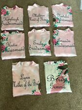 Embroidered Personalised wedding robe Dressing Gown bride robe bridesmaid gift