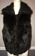 Andrew Marc Addition Opossum Fur Vest PM Brown