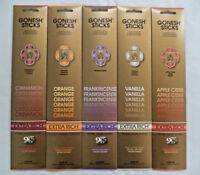 Gonesh Incense Sticks Holiday Assortment - Cinnamon Orange - 5 Packs 20 Sticks