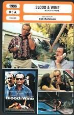 BLOOD AND WINE - Nicholson,Caine,Dorff,Rafelson (Fiche Cinéma) 1996