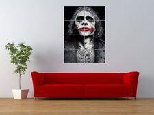 WM BATMAN JOKER UNIQUE TATTOO COLOUR ICON GIANT ART PRINT PANEL POSTER NOR0572