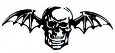 AVENGED SEVENFOLD DEATH BAT PEEL AND RUB ON BLACK VINYL DECAL !