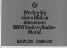 N°2911 / BMW : 320 et 520  dépliant technique   1972    deutch text