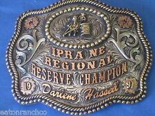 Cool Clint Mortenson Custom Rodeo Barrel Racing Trophy Belt Buckle Awards Gift