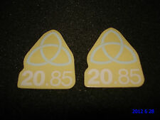 2 AUTHENTIC SMALL UNITED TRINITY BMX FRAME STICKERS / DECALS #15 AUFKLEBER