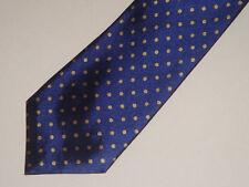 *** lot 5 cravates homme bleu marine à pois or Ed Giovanni