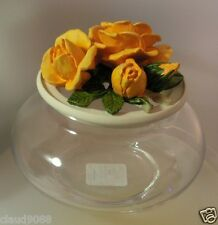 HANDCAST BY ENESCO POT POURRI BOWL JUBILEE GOLD  A3143 NEW & BOXED