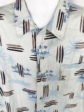 Columbia XCO Hawaiian Shirt Long Board Surf Tiki Lounge Men XL Cotton NWOT