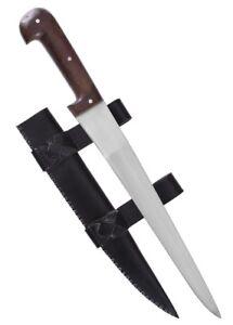 Einfaches Saxmesser mit Lederscheide kurz Wikingermesser Mittelaltermesser