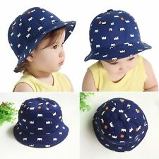 Baby Girls Boys Kids Children Outdoor Cotton Bucket Hat Summer Beach Sun Cap