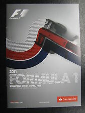 Program 2011 Formula 1 Santander British Grand Prix 8-9 July Silverstone (PBE) s