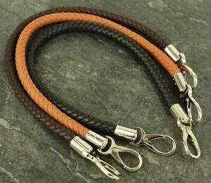 Bag Handles ,Faux leather Handbag  Replacement New, 1 pair Black Tan Coffee BH49