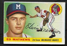 1955 Topps Ed Eddie Matthews HOF # 155 VG Creasing