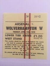Ticket : Arsenal V. Wolverhampton 13/04/1976