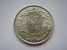 Switzerland 1962 silver 1/2 Franc EF
