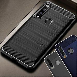 LUXUS CARBON Schutz Hülle Huawei P30 Lite P30 Pro Case Tasche Cover Bumper Etui