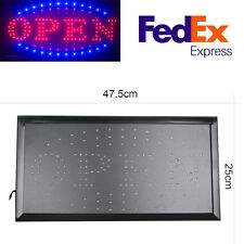 9.8*19''Ultra Bright Animated Led Light Open Business Bar Store Window Sign neon