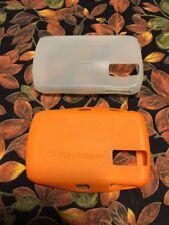 2-BlackBerry 8300, 8310, 8320, 8330 Curve Silicone Skin Case - Opaque. Orange