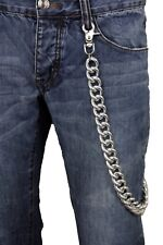 Bling Men Wallet Chain Silver Chunky Metal Extra Long Trucker Jeans Biker Strong