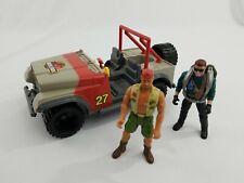 Jurassic Park Figure Lot 2x Jeep Bush Devil Tracker Kenner Mattel Vintage Dennis