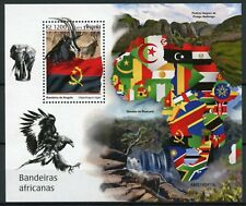 Angola Wild Animals Stamps 2019 MNH African Flags Antelopes Elephants 1v M/S